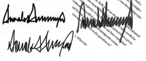 Trump Signatures x 3